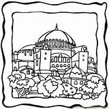 Coloring Pages Building Jerusalem Buildings Dome Temple Colouring Green Wall Coloringpages101 Basilicas Printable Churches Sketch Nursery Stained Windows Glass Dame sketch template