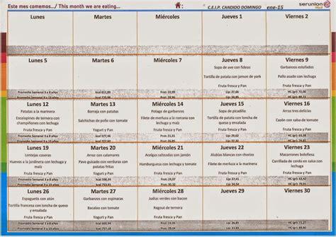 menu comedor men 250 comedor enero 2014 15 a m p a c 225 ndido domingo
