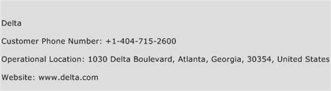 delta customer service phone delta customer service number toll free phone number of