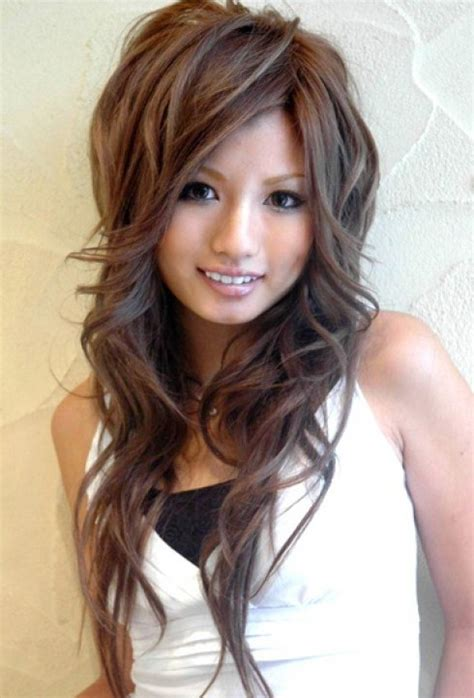 cute asian hairstyles  girls high volume large waves