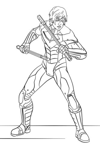 nightwing  arkham city coloring page  printable coloring pages