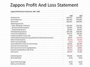 Zappos Profit And Loss Statement: 2007 - 2008
