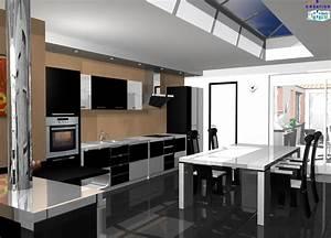 Salon Cuisine Ouverte : cuisine ouverte sur salon s jour 14 messages ~ Melissatoandfro.com Idées de Décoration
