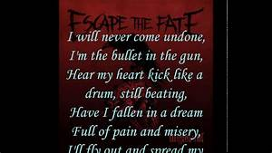 Escape The Fate - I Alone (Lyrics) - YouTube