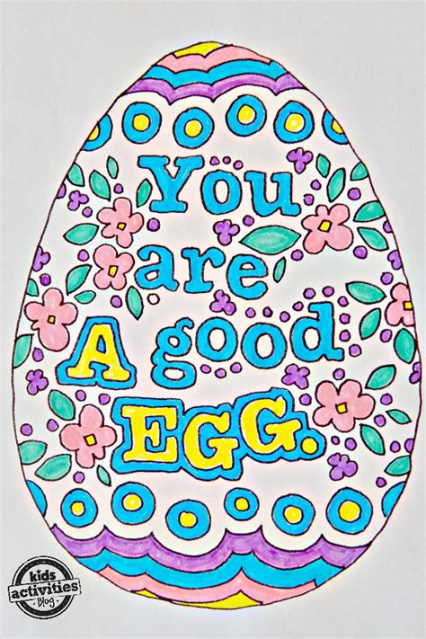 kids easter egg doodle coloring pages