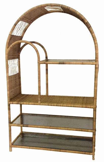 Wicker Arched Etagere Chairish