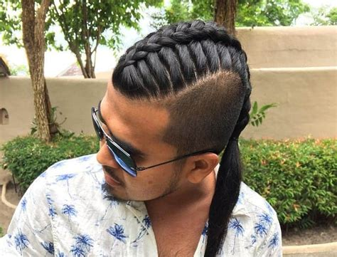 classic ways style single braids  men  cool mens hair