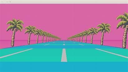 Vaporwave Background Pixel Aesthetic Gifs Backgrounds Neon