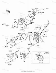 Kawasaki Motorcycle 2007 Oem Parts Diagram For Engine