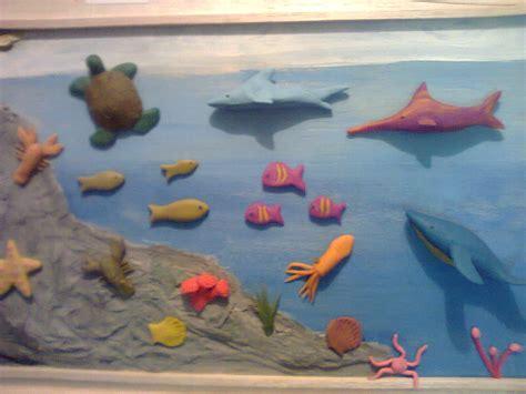 maquetas y arte ecosistema marino de galapagos
