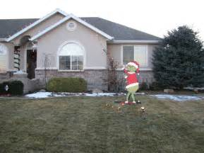 grinch outdoor yard decor holidays pinterest