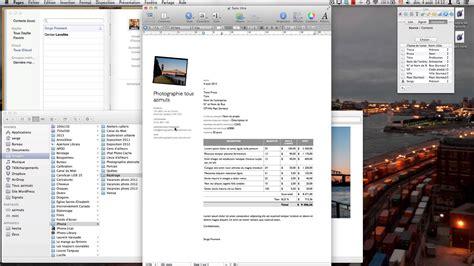 modèle cv pages mac modele facture pages mac