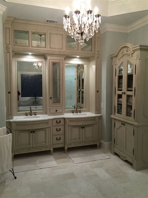 accessible beige kitchen cabinets installation complete vanities and armoire finished in