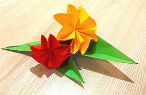 Free Coloring Pages: Easy Origami Flower Great Ideas For