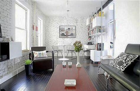 modern interior design ideas emphasizing white brick walls