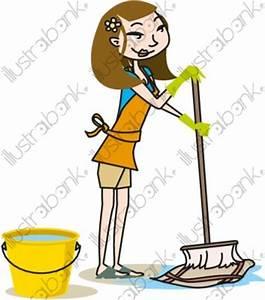 Comment Passer La Serpillère : femme et serpill re illustration m nage libre de droit sur ~ Premium-room.com Idées de Décoration