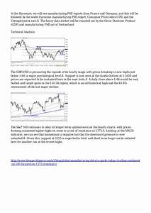 Global Manufacturing Data To Guide Today U0026 39 S Trading