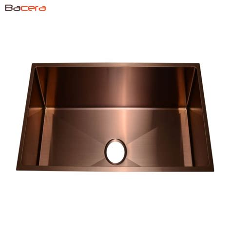 copper sink with stainless steel appliances sb1404 copper finish stainless steel sink bacera