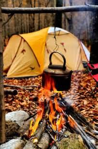 Fall Camping Campfire