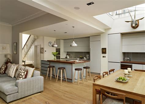 neutral bespoke roundhouse kitchen features