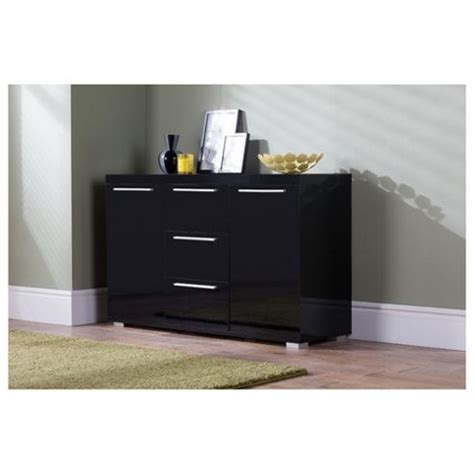 Next Black Gloss Sideboard by Buy Milan High Gloss Large Sideboard With Chrome Handles