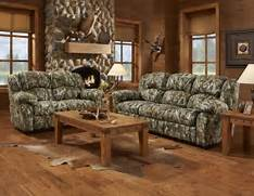 Living Room Collection by Mossy Oak Camouflage Reclining Motion Sofa Loveseat Camo Hunting Living Room