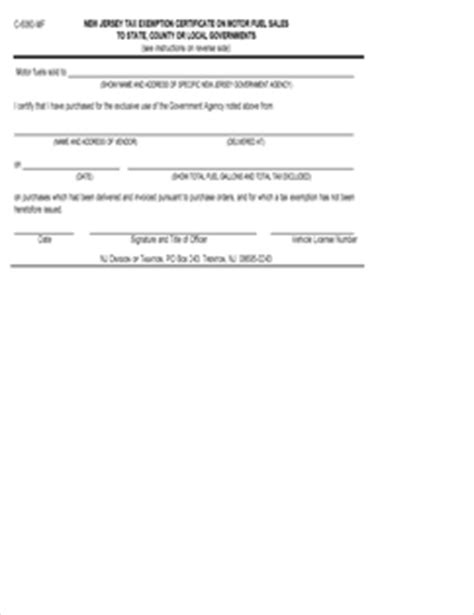 form c 6060 fillable new jersey tax exemption certificate
