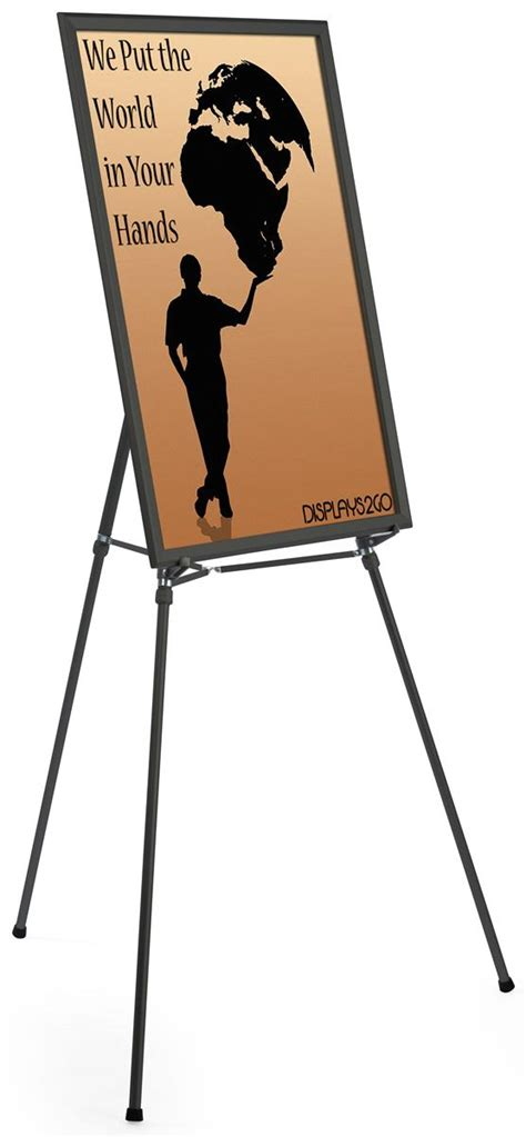 display easel black easel stand with 24 x 36 snap frame
