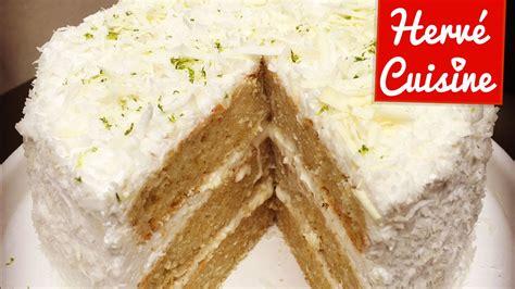 recette herve cuisine recette gâteau layer cake coco citron vert et chocolat