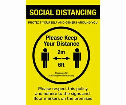 Social Distancing Poster Distance Keep Notice Please