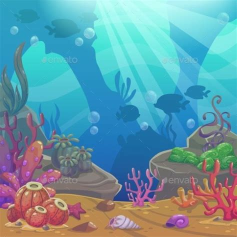 Along with core animation techniques, it shows how to morph shapes, move graphics along curved paths, animate complex filter effects, and control animations from javascript. Cartoon Underwater Vector Illustration | Animation ...