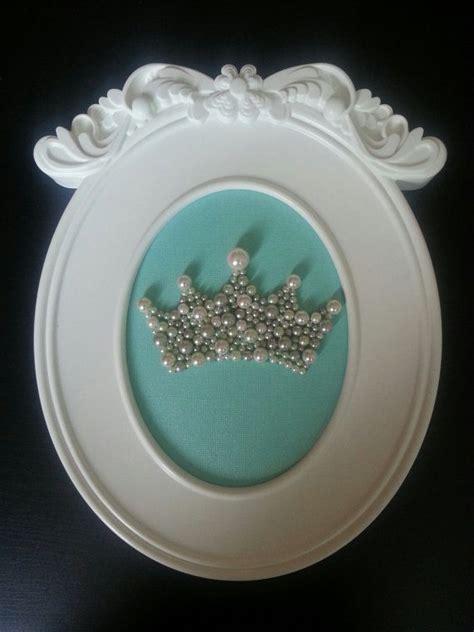 ready  ship framed pearl crown  light teal