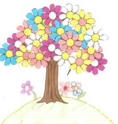 dltk kids crafts spring tree use foam flower shapes for the children to glue onto a tree