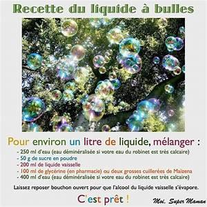 Recette Bulles De Savon : c 39 est le weekend recette bulles de savon nounoupanda ~ Melissatoandfro.com Idées de Décoration