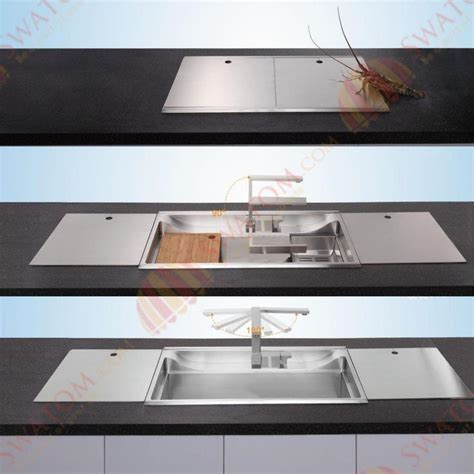 34 Inch 12Mm Thickness 3D Hidden Stainless Steel Topmount