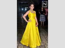 Deepika Singh attended in an yellow gown with minimal