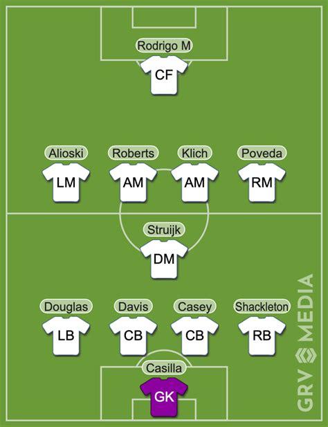Leeds predicted lineup vs Hull: Rodrigo makes full debut ...