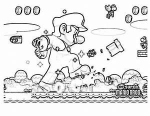 Imgenes De Mario Bross Para Pintar Colorear Imgenes