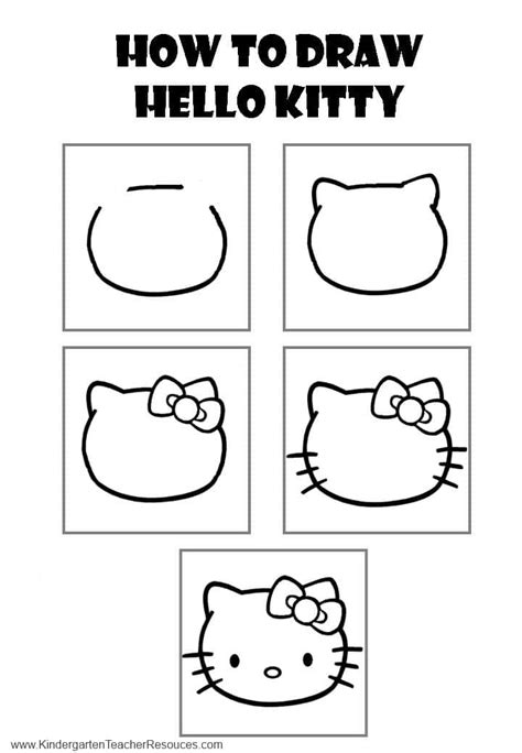 teach to draw 321 | draw hello kitty