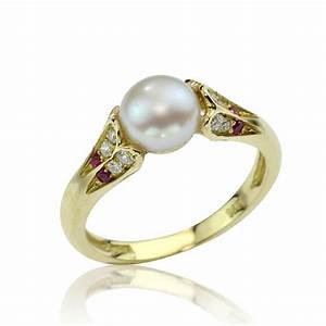 Antique Style Pearl 18K Gold Engagement Ring by netawolpe ...