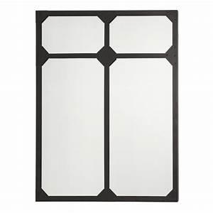 Miroir Rectangulaire Mural : miroir mural rectangulaire 80x100cm noir ~ Teatrodelosmanantiales.com Idées de Décoration
