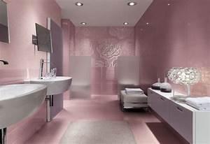 une salle de bain rose feminine et tendance With salle de bain feminine