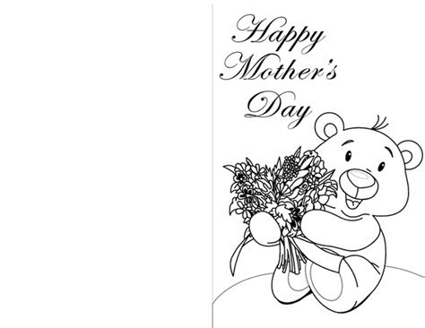 Free Coloring Cards by Free Printable Coloring Mothers Day Cards Printable Cards