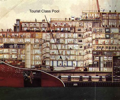 1 room cabin plans the tourist class pool and gymnasium