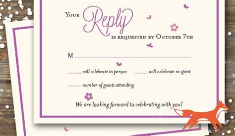 Wedding RSVP Card Wording