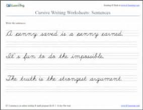 cursive sentences
