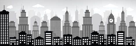 arquitetura da cidade preto branco fotos de stock