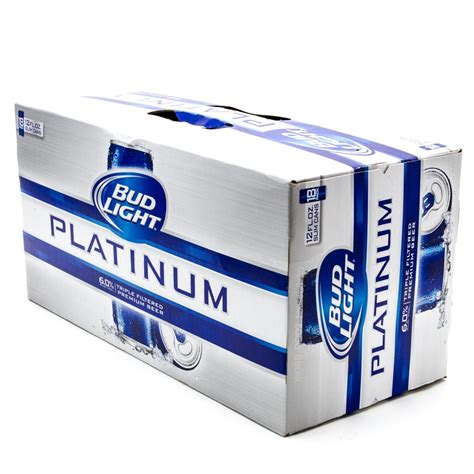 bud light platinum bud light platinum 12oz slim can 18 pack