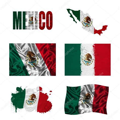 Bandera de México, arte nacional de la africa — Foto de ...