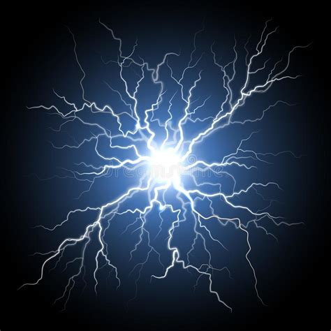 Realistic Lightning Bolt Vector